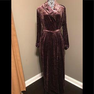 Oscar de la Renta Neiman Marcus Velvet Robe
